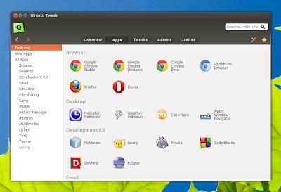 Ubuntu Tweak 0.8.0 adiciona novo recurso para gerenciar Apps