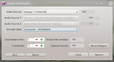 Novo Kazam Screencaster disponvível com novos recursos | Instale no Ubuntu 12.04, 12,10, Mint 13 e Mint 14