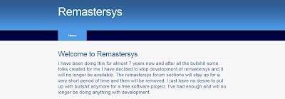 Remastersys é descontinuado