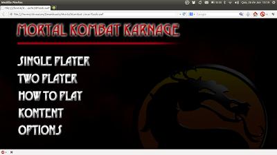 Mortal Kombat Karnage em flash para Linux - Download