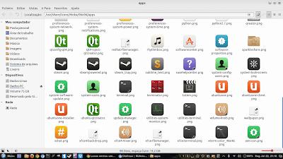 Tema de ícones Moka para Ubuntu e Linux Mint ( Aparência Mobile )