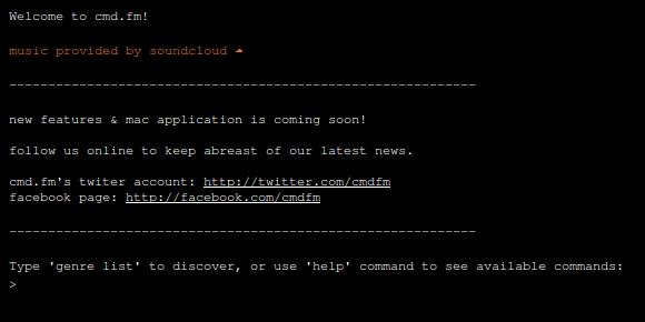 CMD.FM - Uma rádio online via comandos de texto para Geeks de computadores!