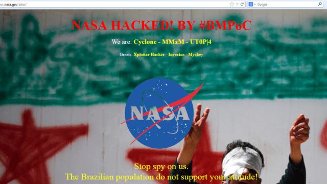 Hackers brasileiros invadem site da NASA por engano!