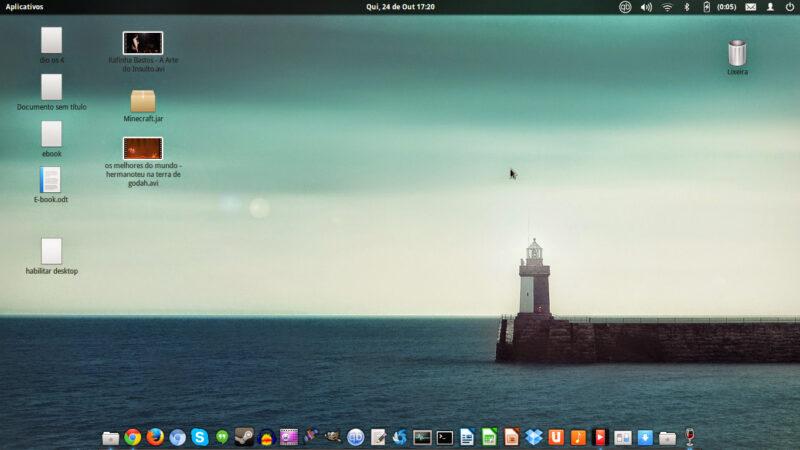 Como habilitar a área de trabalho ( Desktop) no Elementary OS