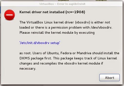 VirtualBox da Erro depois de atualização de Kernel