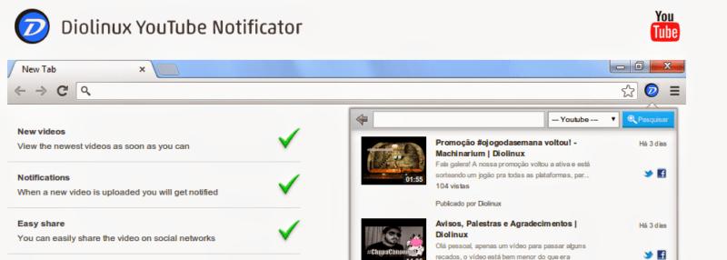 Extensão Diolinux para o Google Chrome e Firefox