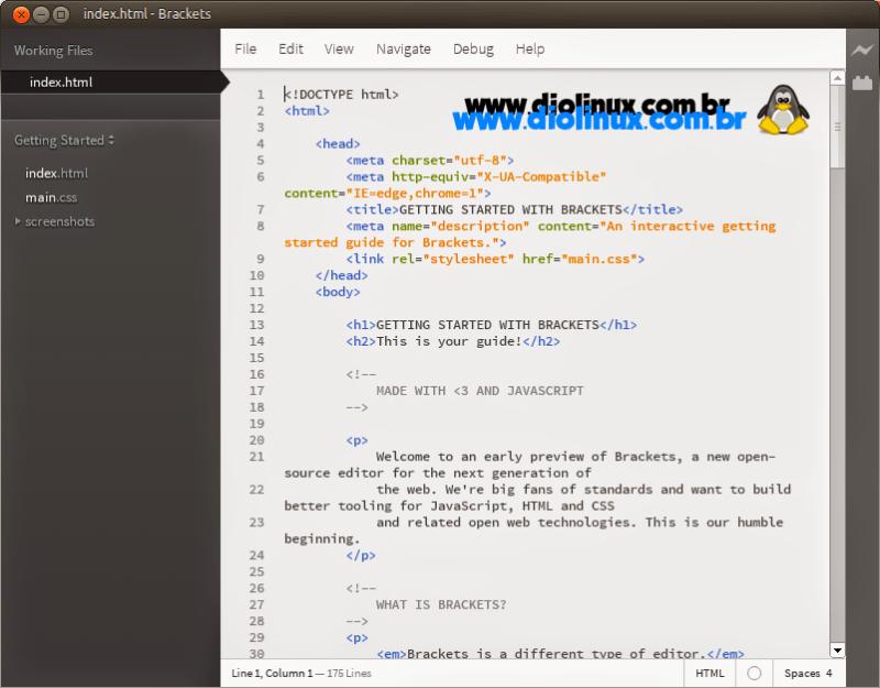Como baixar e instalar o Brackets no Ubuntu