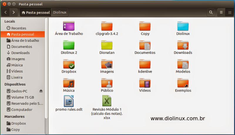 Como colorir as pastas no Ubuntu