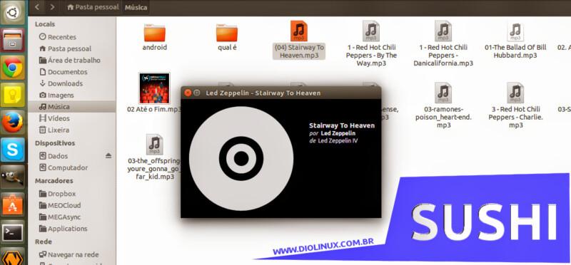 Gnome Sushi: Preview de arquivos no Nautilus do Ubuntu
