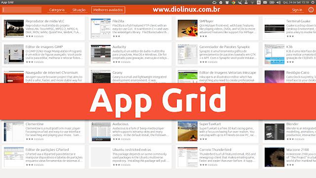 App Grid: Uma nova e mais leve Central de Programas para o Ubuntu