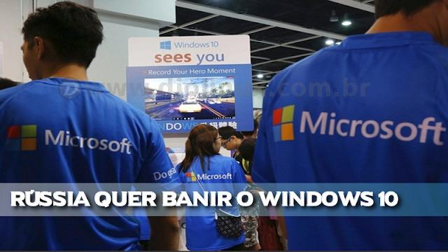 Advogados Russos querem proibir o Windows 10 no país