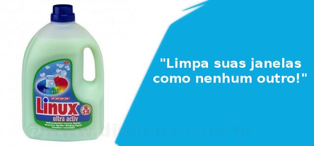 """""""Linux"""" é uma marca de detergente na Suiça"""