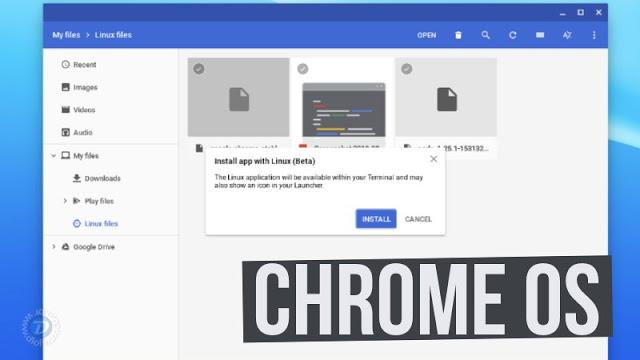 Chrome OS agora tem suporte para instalar pacotes no formato .deb