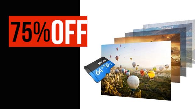 Conheça o Cartão SD Netac P500 Classe 10 de 64GB com 75% de desconto