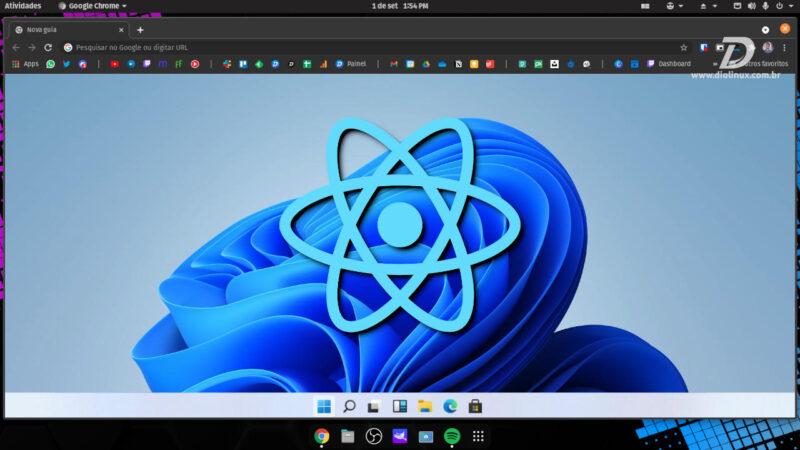 Desenvolvedor replica a interface do Windows 11 no navegador em React